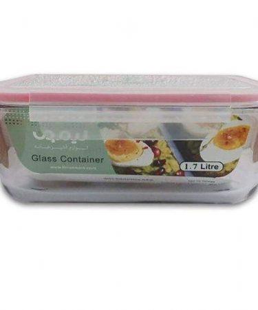 ظرف شیشه ای مستطیل 1.7 لیتر لیمون